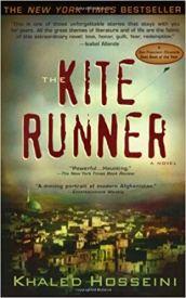 2005 paperback cover of The Kite Runner book.