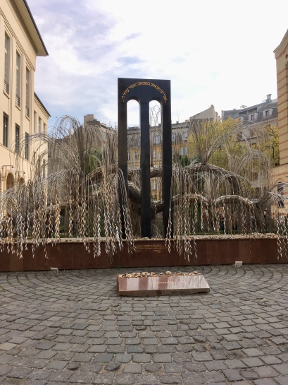 Tree of Life Holocaust Memorial visited in Budapest, November 2018.