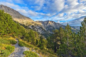 Sunny view of Mount Olympus, Greece